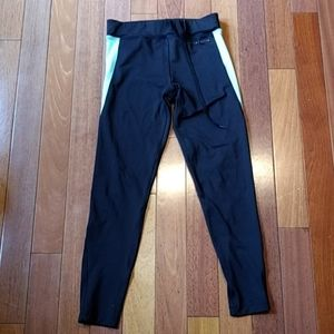 Oysho fitness. Teal and black leggings. Small